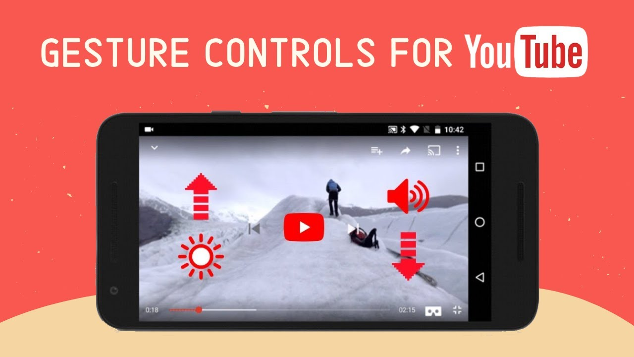 Control YouTube with gestures on android